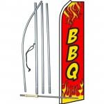 BBQ Red Flames Swooper Flag Bundle