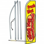 Fresh Hot Dogs Yellow Swooper Flag Bundle