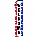 Welcome Red White Blue Swooper Flag
