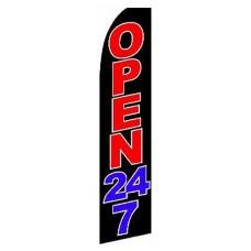 Open 24/7 Swooper Flag