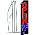Open 24/7 Swooper Flag Bundle