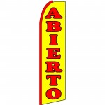 Abierto(Open) Extra Wide Swooper Flag