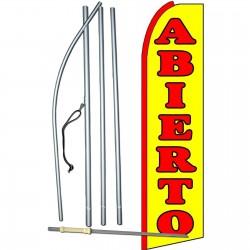Abierto(Open) Extra Wide Swooper Flag Bundle