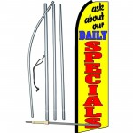 Ask About Our Daily Specials Extra Wide Swooper Flag Bundle