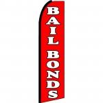 Bail Bonds Extra Wide Swooper Flag