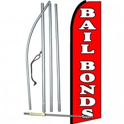 Bail Bonds Extra Wide Swooper Flag Bundle