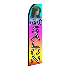 Hair Salon Multi Color Extra Wide Swooper Flag
