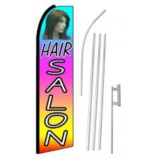 Hair Salon Multi Color Extra Wide Swooper Flag Bundle
