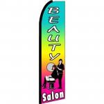 Beauty Salon Rainbow Extra Wide Swooper Flag