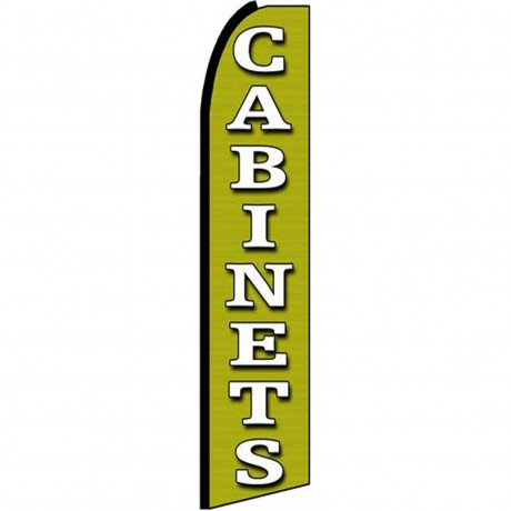 Cabinets Green Extra Wide Swooper Flag