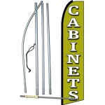 Cabinets Green Extra Wide Swooper Flag Bundle