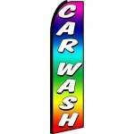 Car Wash Rainbow Extra Wide Swooper Flag