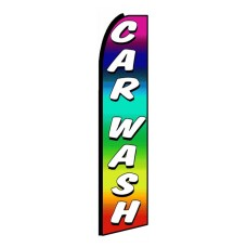 Car Wash Rainbow Extra Wide Swooper Flag
