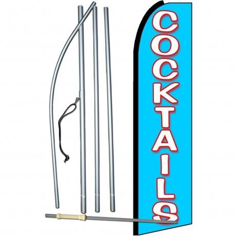 Cocktails Extra Wide Swooper Flag Bundle