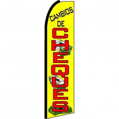 Cambios De Cheques Extra Wide Swooper Flag