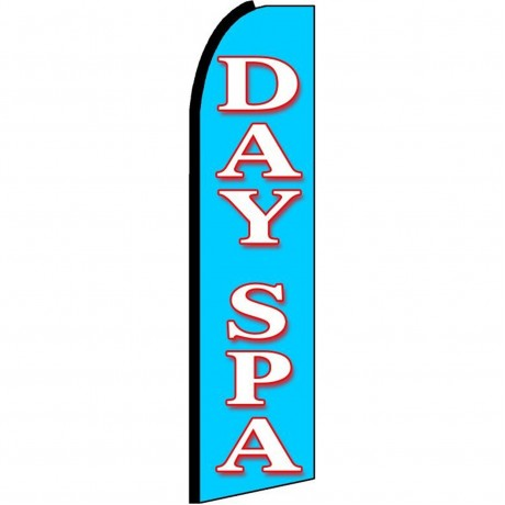Day Spa Blue Extra Wide Swooper Flag