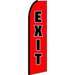 Exit Extra Wide Swooper Flag