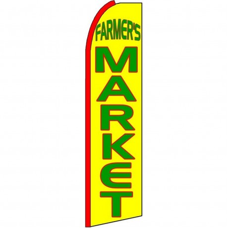 Farmers Market Extra Wide Swooper Flag