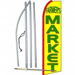 Farmers Market Yellow Extra Wide Swooper Flag Bundle