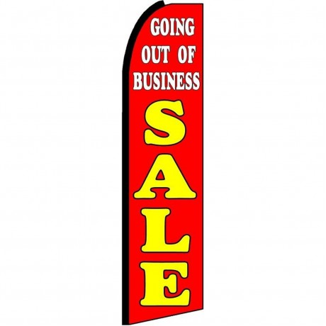 Going Out Of Business Sale Extra Wide Swooper Flag