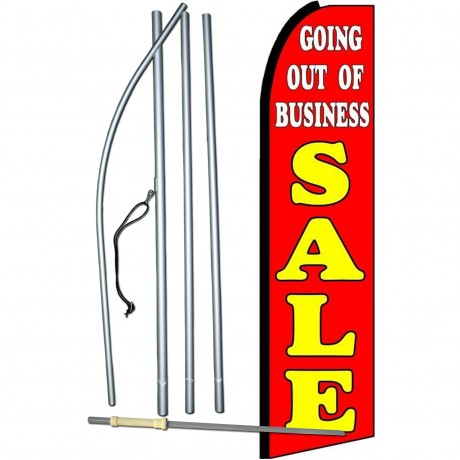 Going Out Of Business Sale Extra Wide Swooper Flag Bundle