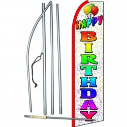 Happy Birthday Extra Wide Swooper Flag Bundle
