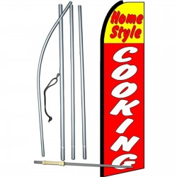 Home Style Cooking Extra Wide Swooper Flag Bundle