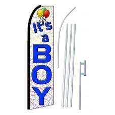 It's A Boy Extra Wide Swooper Flag Bundle