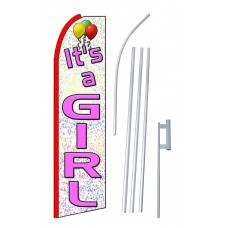 It's A Girl Extra Wide Swooper Flag Bundle