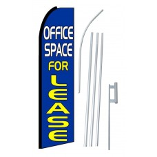 Office Space For Lease Extra Wide Swooper Flag Bundle