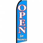 Open For Business Extra Wide Swooper Flag