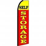 Self Storage Red Yellow Extra Wide Swooper Flag