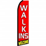 Walk Ins Welcome Extra Wide Swooper Flag