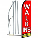 Walk Ins Welcome Extra Wide Swooper Flag Bundle