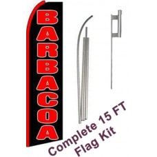 Barbacoa (Barbeque) Extra Wide Swooper Flag Bundle