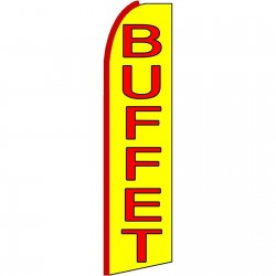 Buffet Yellow Extra Wide Swooper Flag