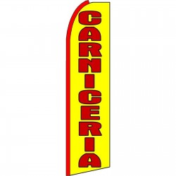 Carniceria Yellow Extra Wide Swooper Flag