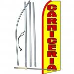 Carniceria Yellow Extra Wide Swooper Flag Bundle