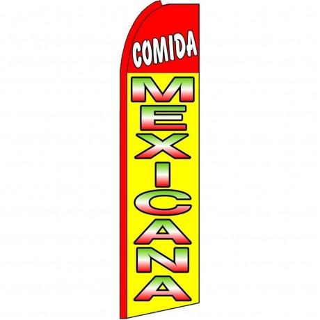 Comida Mexicana(Mexican Food) Extra Wide Swooper Flag