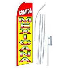 Comida Mexicana (Mexican Food) Extra Wide Swooper Flag Bundle