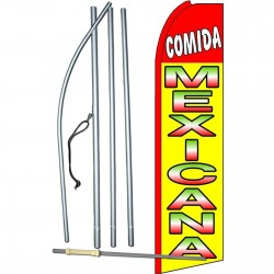 Comida Mexicana (Mexican Food) Extra Wide Swooper Flag Bundle