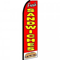 Fresh Sandwiches Extra Wide Swooper Flag