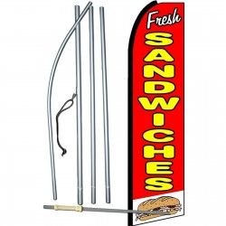 Fresh Sandwiches Extra Wide Swooper Flag Bundle