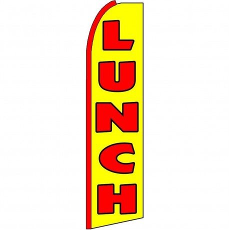 Lunch Yellow Extra Wide Swooper Flag