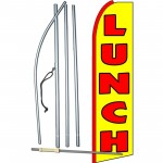 Lunch Yellow Extra Wide Swooper Flag Bundle