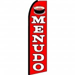 Menudo(Soup) Red Extra Wide Swooper Flag