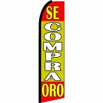 Se Compra Oro Yellow Extra Wide Swooper Flag