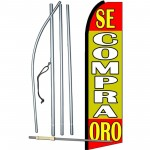Se Compra Oro Yellow Extra Wide Swooper Flag Bundle