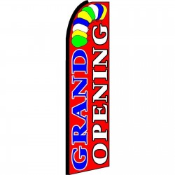 Grand Opening Red Extra Wide Swooper Flag