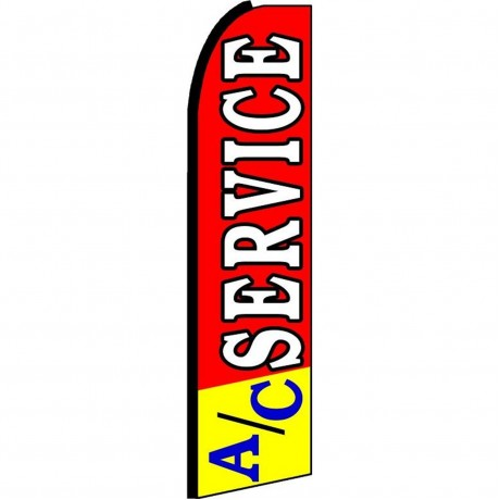 A/C Service Red Yellow Extra Wide Swooper Flag